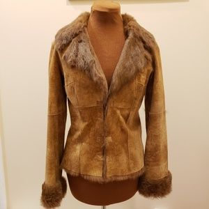 TOI & MOI Real Leather & Fur Coat